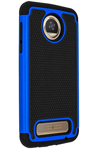 Moto Z2 Play Case,ANLI [Shock Absorption] Drop Protection Hybrid Dual Layer Armor Protective Case Cover for Motorola Moto Z Play Droid (2nd Generation) 2017 Released Blue