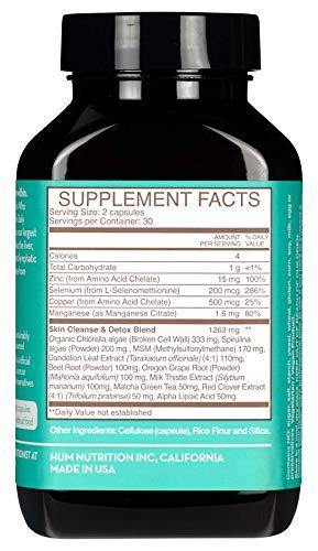 HUM Daily Cleanse - Skin & Body Detox with Organic Algae, 15 Herbs + Minerals (60 Vegan Capsules) by HUM (Image #1)
