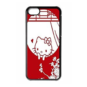Kyle5v Rojo Hello Kitty print iPhone 5C Case, {Black}