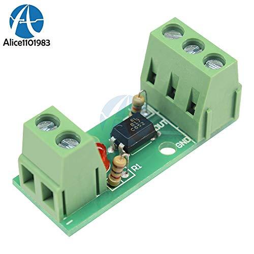 - Fevas 12V 1 Channel Optocoupler Isolation Module Isolated Board Rail Holder PLC Processors 80KHz PC817 EL817 Drive Motor Inverter