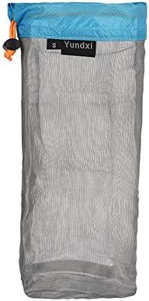 Pack of 3pcs S M L Camping Sport Ultra-light Mesh Stuff Sack Drawstring Bags