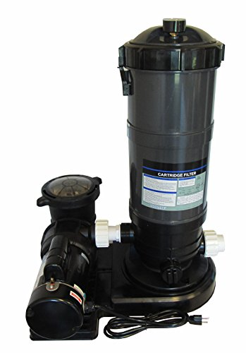 Pooline Pro Above Ground Pool 90sf Cartridge Filter System with 1 HP Pump ()