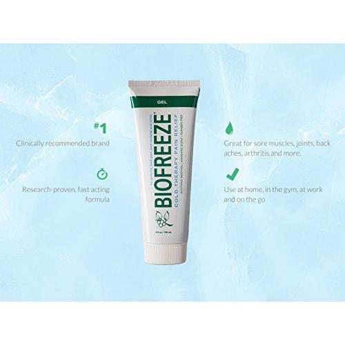 Biofreeze Pain Relief Gel, 4 Ounce Tube, Original Green Formula, Pain Reliever