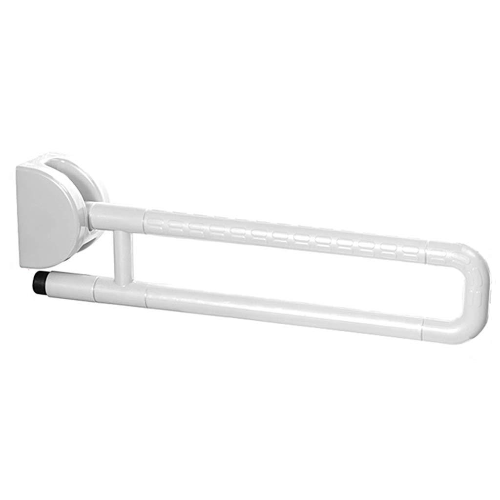 Jh Corrimano WC corrimano bagno doccia corrimano corrimano termostatico stalla in nylon corrimano wc antiscivolo per le donne corrimano per disabili (Color : Bianca, Size : 60 * 13 * 9cm)
