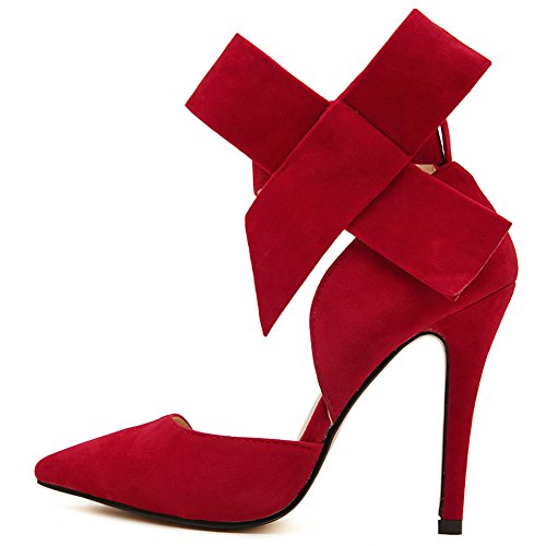 fereshte , Damen Knöchel-Riemchen , rot - rot - Größe: 37.5