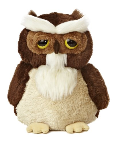 Aurora Tech World Dreamy Eyes Smitty Owl Plush, 9""