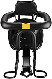 Lixada Safety Child Bicycle Seat Bike Front Baby Seat Kids Saddle with Foot Pedals Support Back Rest for MTB R