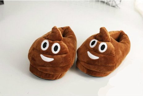 Price comparison product image Cute Emoji Slippers Poop Slippers / / Devel Slippers / / Heart Eyes Slippers,  Win...