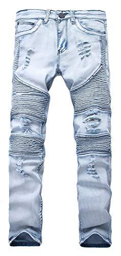 Lannister Fashion Pantalones Vaqueros De Los Hombres Pantalones Elásticos Ajustados Skinny Vaqueros Ajustados Delgados Pantalones De Los Hombres Pantalones Vaqueros Destruidos Delgados Hellblau1