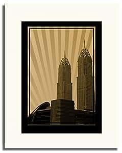Al Kazim Towers Metro - Sepia No Text F05-m (a2) - Framed
