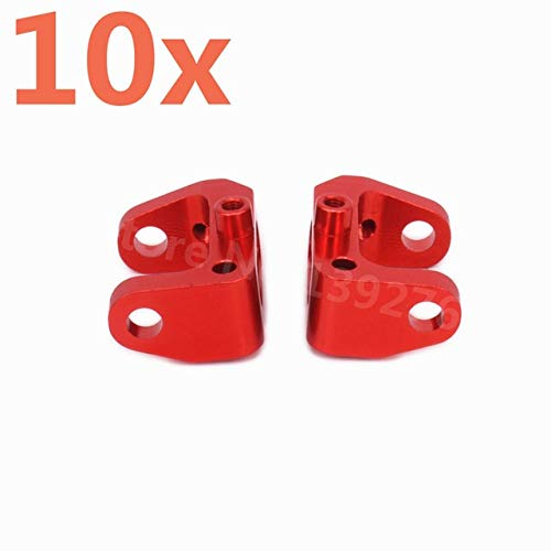 Part & Accessories 10 Pieces RC Cars Aluminum Alloy Upgrade Front C Hub Carrier For RC Model Car 1/10 Scale Kyosho Optima 4WD CNC New Hobby Buggy - (Color: Red) ()