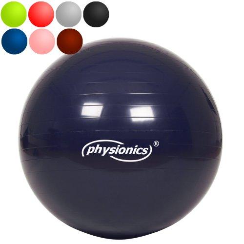 Gymnastikball 65cm Stargazer (dunkelblau) Fitness- / Sitzball inkl. Pumpe