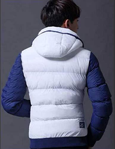 Bianco Capispalla Leggero Cappotto Con Cappuccio Puffer Giacca Ttyllmao Giù Packable I0qzR4