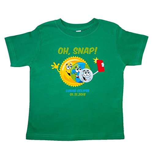 inktastic Oh Snap Lunar Eclipse 2018 Toddler T-Shirt 2T Kelly Green - 3590 Phones Cell