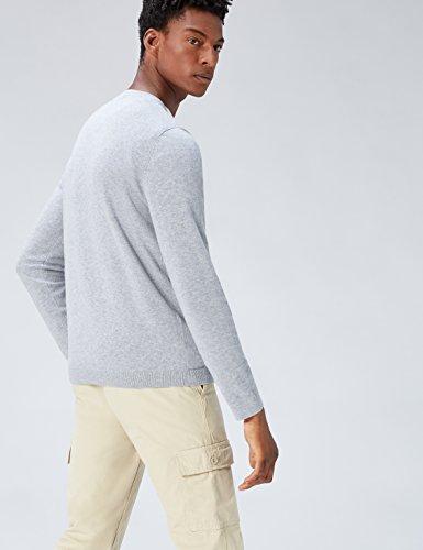 light A V Con Marl Grigio Find Pullover Grey Uomo Scollo atUCf0