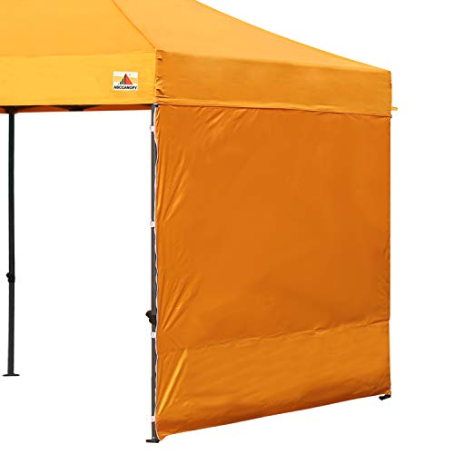 ABCCANOPY 15+Colors 10' Sun Wall 10'x 10' Straight Leg pop up Canopy Tent, 10' Sidewall kit (1 Panel) Truss Straps, (Gold)