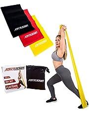 ActiveVikings Fitness Bandas Juego de 3Fortalecer 2m Longitud Ideal para Musculatura. Fisioterapia Pilates Yoga Gimnasia y Crossfit  –Banda elástica de Bandas de Resistencia