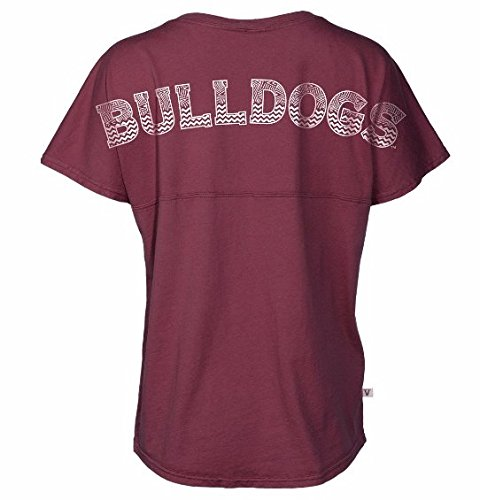 Official NCAA Mississippi State University Bulldogs HAIL STATE BULLY Women's Short Sleeve Spirit Wear Jersey T-Shirt