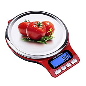 CAIZHAO Digital Multifunction Kitchen Scale,7 Conversion Units Funtion High Precision Sensors Metal Touch Button Large Lcd Display 41wui0ZwxvL