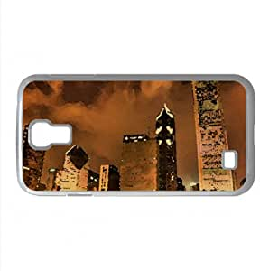 Night City HDR 1 Watercolor style Cover Samsung Galaxy S4 I9500 Case (Illinois Watercolor style Cover Samsung Galaxy S4 I9500 Case)