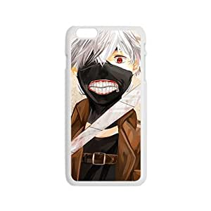 Anime Ken Kaneki [Tokyo Ghouls] for iPhone 6 Case [Non-Slip] Slim and Premium Soft Plastic Case Protective [Ultra Fit] Shock Absorbing and Scratch Resistant Perfect 2 in 1