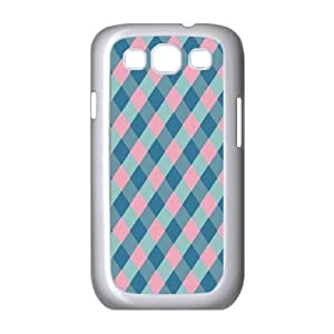 Custom Check Pattern Back Cover Case for SamSung Galaxy S3 I9300 JNS3-098