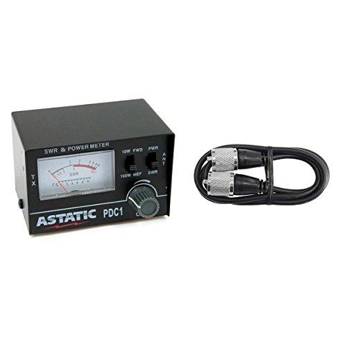 ASTATIC PDC1 100 Watt SWR/RF TEST METER W/ Workman 3 foot ju