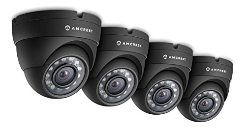 Amcrest Eco-Series 720P HD Security Cameras, Weatherproof IP66 Dome Cameras, 65ft IR LED Night...