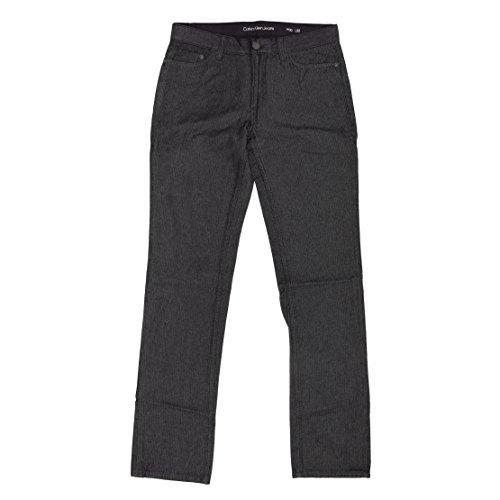 Calvin Klein Jeans Mens Herringbone 5 Pocket Slim Straight Pant (30x32, (Calvin Klein 5 Pocket Jeans)