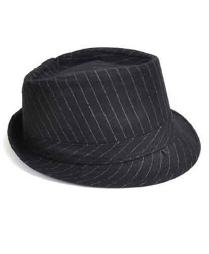 (Classic Pinstripe Nylon Fedora Hat)