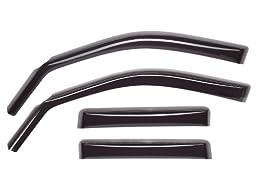 WeatherTech Custom Fit Front & Rear Side Window Deflectors for Toyota Corolla, Dark Smoke