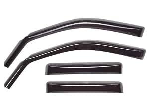 WeatherTech Custom Fit Front & Rear Side Window Deflectors for Toyota Prius, Dark Smoke