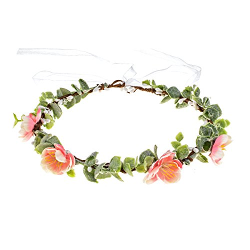 Love Sweety Succulent Flower Crown Eucalyptus Halo Wedding Floral Headband Photo Prop B-White