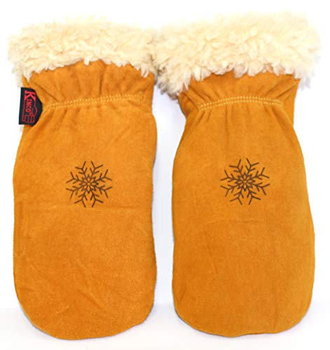 - KINCO MITTENS - Suede Deerskin w the Warmest, Softest Pile Thermal Lining. Leather Ski Gloves for Women, Men, Children/Kids. Perfect Winter, Snow, Cold Weather, and Outdoor Gear (Youth)