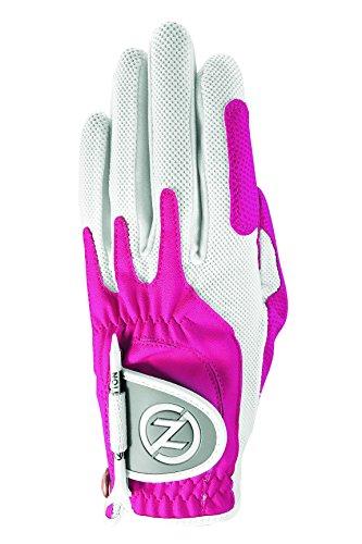 Zero Friction Women's Golf Gloves, Left Hand, One Size, Pink (Pink Golf Glove)