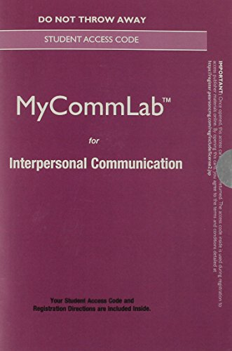 NEW MyLab Communication without Pearson eText -- Standalone Access Card -- for Interpersonal Communication (New My Commu