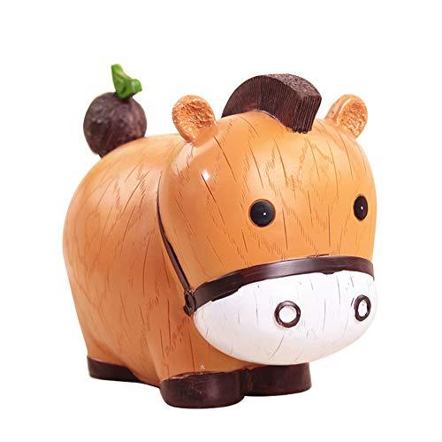 DENTRUN Cute Animals Pig Rabbit Tiger Cow Piggy Bank,Cartoon Resin Money Box Ornament,Room Tabletop Nursery Decoration for Your Baby, Top Girls Boys Christmas Holiday Birthday Gift Idea