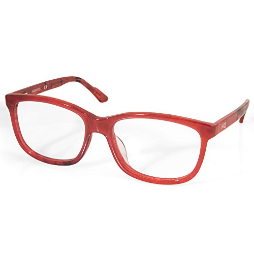 AQS Unisex Collin Optical Eyeglasses (Pale Red-Black, - Collins Eyeglasses