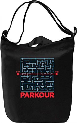 Parkour Borsa Giornaliera Canvas Canvas Day Bag  100% Premium Cotton Canvas  DTG Printing 