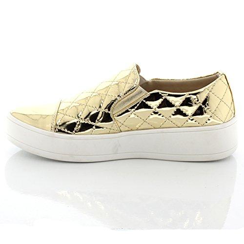 Glaçage Slip Sur Brillant Design Point De Croix Réfléchissant Teresa9 Gold