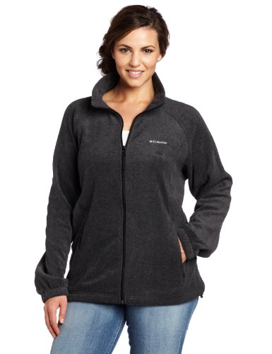 Columbia Women's Plus-Size Benton Springs Full Zip Plus, Charcoal Heather, 3X