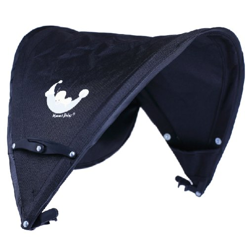 Baby Stroller Sunshade Maker Infant Stroller Canopy Cover Half [BLACK] by Panda Superstore (Image #2)