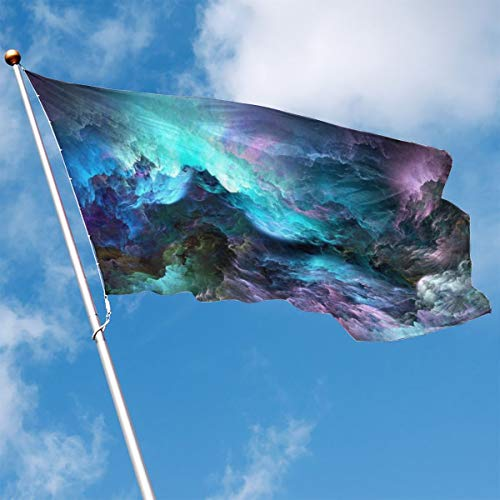 - Garden Flag Cloud Colorful Nebula Outdoor Yard Home Flag Wall Lawn Banner Polyester Flag Decoration 3' X 5'