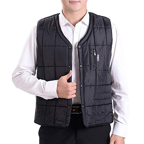 Jacket New Thicken Autumn Style 01 and Men's Waistcoats Vest Jacket Large Down Winter BOZEVON Cotton Warm Size ZEYtwvqE
