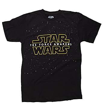 Star Wars The Force Awakens- Starry Logo T-Shirt Size M