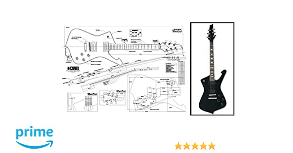 Amazon.com: Plan of Ibanez Iceman Electric Guitar - Full Scale Print: Musical Instruments