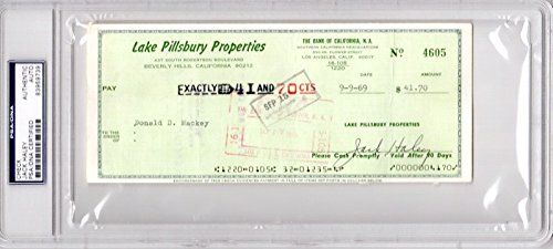 - Jack Haley Signed - Autographed bank check - Deceased 1979 - Tin Man actor from The Wizard of Oz - PSA/DNA Certificate of Authenticity (COA) - PSA Slabbed Holder
