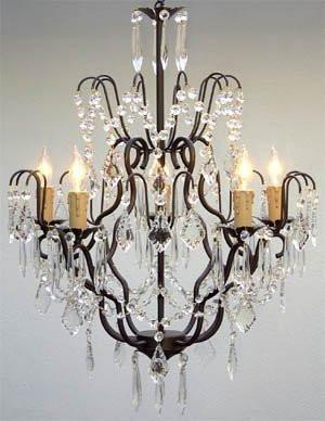 Wrought Iron Crystal Chandelier Chandeliers Lighting H27