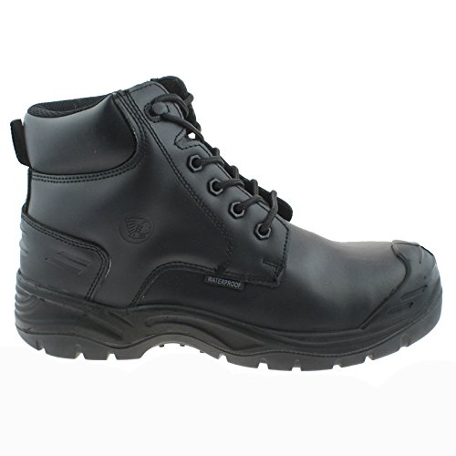 Apache Utility Black Leather Waterproof Non Metallic Safety Workwear Boots-UK 12 (EU 46)