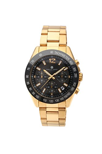 Charles-Hubert, Paris Men's 3976-G Premium Collection Analog Display Japanese Quartz Gold Watch